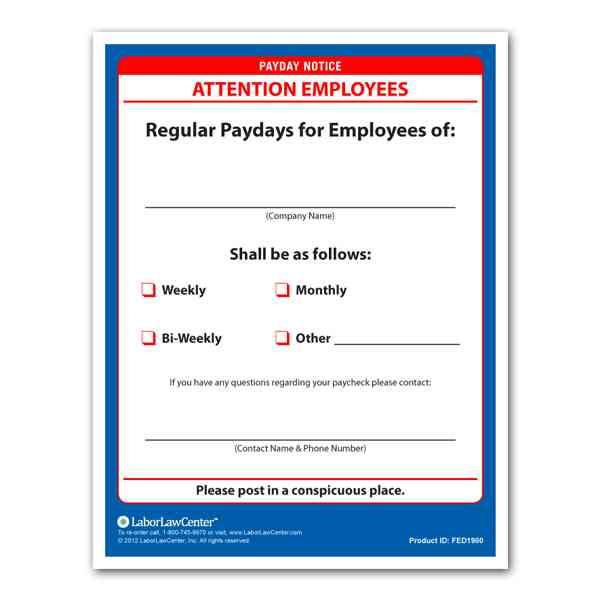 payday notice