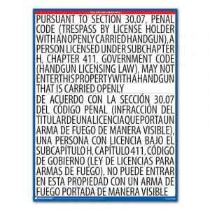 Texas Open Carry Handgun Notice