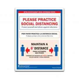 Retail or Restaurant Social Distancing Poster