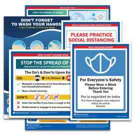 COVID-19 Prevention & Safety Poster Set