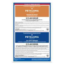 Petaluma City Labor Law Poster