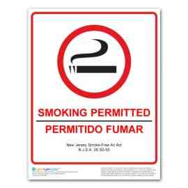 New Jersey Smoking Permitted Poster