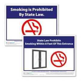 Indiana No Smoking and No Smoking Within 8 Feet Sign