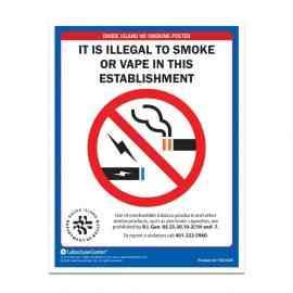 Rhode Island No Smoking Poster