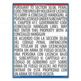 Texas Concealed Handgun Notice