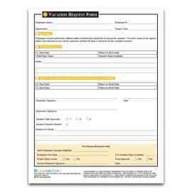 Vacation Request/Response Form