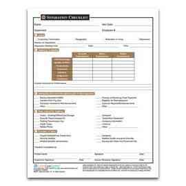 Separation Checklist