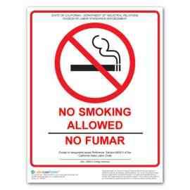California No Smoking Poster
