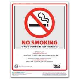 Illinois No Smoking Poster