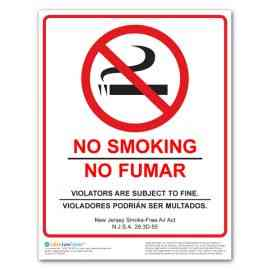 New Jersey No Smoking Poster