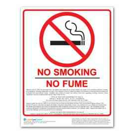 New York No Smoking Poster
