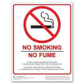 Ohio No Smoking Poster