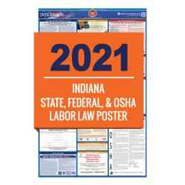 Indiana & Federal Labor Law Poster