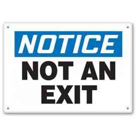 NOTICE - Not An Exit