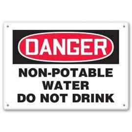 DANGER - Non-Potable Water - Do Not Drink