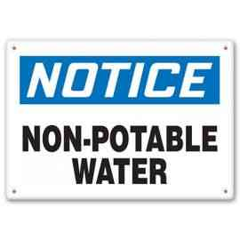 NOTICE - Non-Potable Water