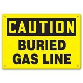 CAUTION - Buried Gas Line
