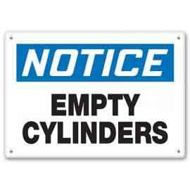 NOTICE - Empty Cylinders