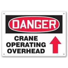 DANGER - Crane Operating Overhead