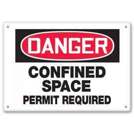 DANGER - Confined Space - Permit Required