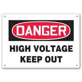 DANGER - High Voltage - Keep Out