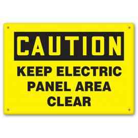 CAUTION - Keep Electric Panel Area Clear