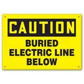 CAUTION - Buried Electric Line Below