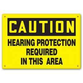 CAUTION - Hearing Protection Required In This Area