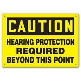 CAUTION - Hearing Protection Required Beyond This Point
