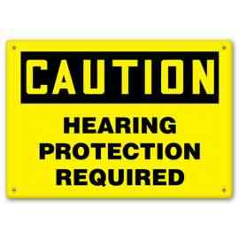 CAUTION - Hearing Protection Required