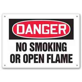 DANGER - No Smoking Or Open Flame
