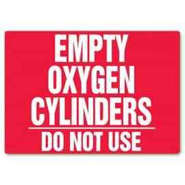 Empty Oxygen Cylinders - Do Not Use