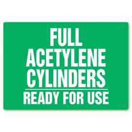 Full Acetylene Cylinders - Ready For Use