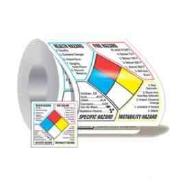 NFPA Classification Diamond Roll Label