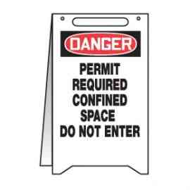 Danger Permit Required Confined Space Do Not Enter Fold Up