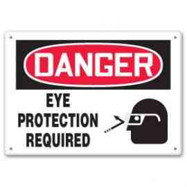 EYE PROTECTION REQUIRED (W/GRAPHIC)