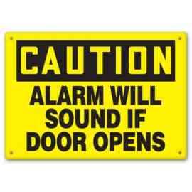 Alarm Will Sound If Door Opens