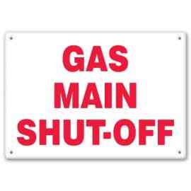 GAS MAIN SHUT-OFF