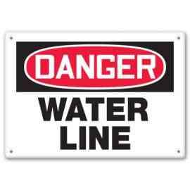 DANGER WATER LINE
