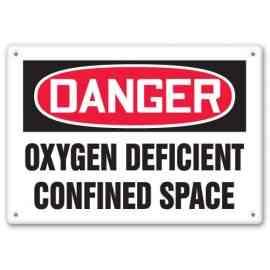 OXYGEN DEFICIENT CONFINED SPACE