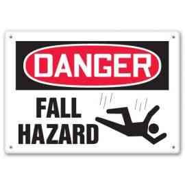 DANGER FALL HAZARD (W/GRAPHIC)