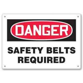 SAFETY BELTS REQUIRED