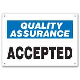 QUALITY ASSURANCE ACCEPTED