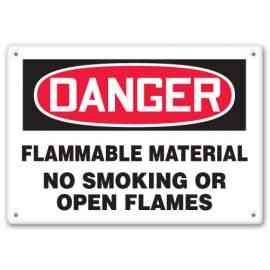 FLAMMABLE MATERIAL NO SMOKING OR OPEN FLAMES