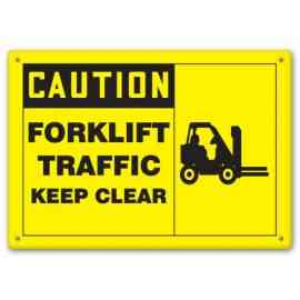 FORKLIFT TRAFFIC KEEP CLEAR (W/GRAPHIC)