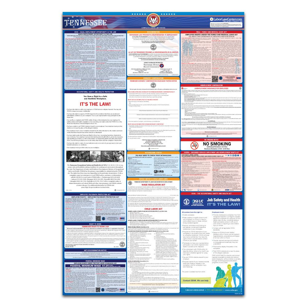 Tennessee All-In-One Labor Law Poster TN