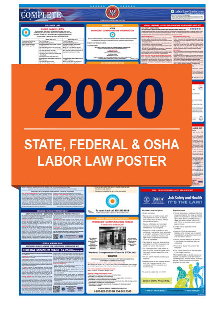 2019 Labor Law Posters - State, Federal & OSHA in One Poster
