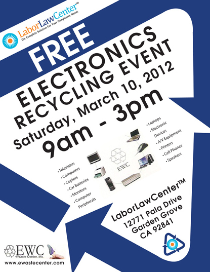 Recycling Event-LaborLawCenter