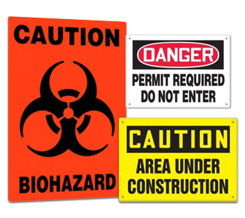 Safety Signs and Placards & Compliance Signs