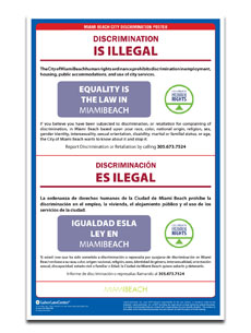 Miami Beach Discrimination Poster
